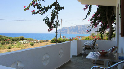 Photo of Mochlos Mare apartment, front terrace