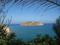 photo of Mochlos island, view from Mochlos Mare parking area